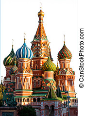 St Basil Cathedral, Moscow, isolated on white