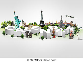 Calendar on travel - 3D Illustration of Calendar on travel...