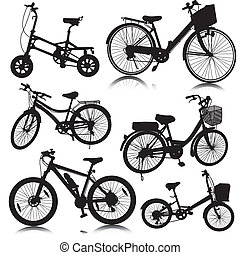 bicycle bike vector - Set of Bicycle Vector isolate on white...