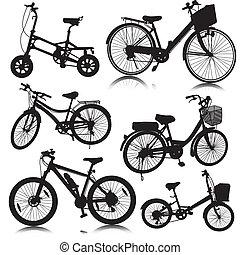 bicicleta, bicicleta, vector