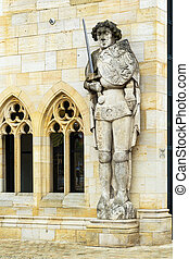 statue Roland, Halberstadt, Germany - the Roland statue in...
