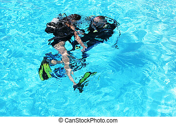 Diving course - Diving training in a swimming pool