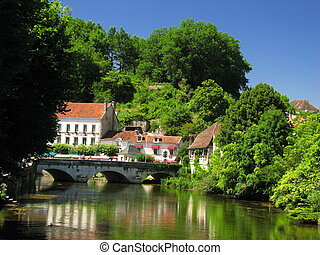 Village and River of Brantome