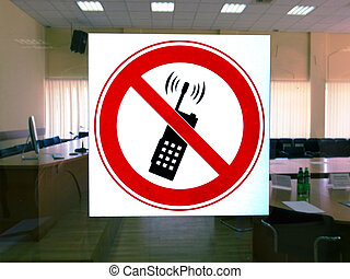 phone conversation - sign a forbidding phone conversation...
