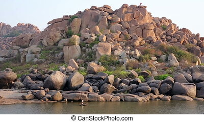 Majestic boulder rocks - Landscape of majestic boulder rocks...