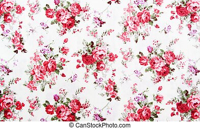 Rose bouquet design Seamless pattern on fabric as background...