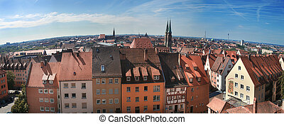 nuremberg - townscape of Bavaria nuremberg from a high point