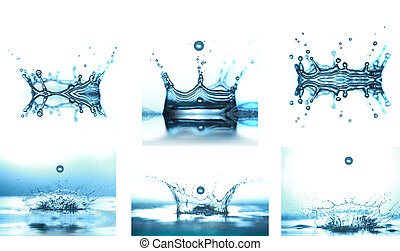 water drop falling in water