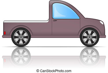 Pickup Truck Icon - Pickup truck icon, vector eps10...