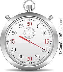 Stopwatch on white background, vector eps10 illustration