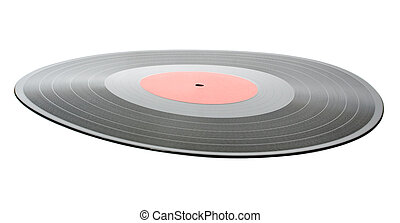 vinyl record isolated on white