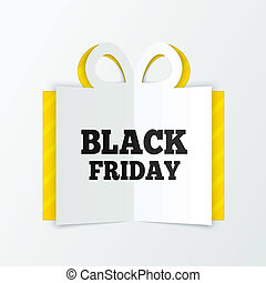 Black friday sale box cut the paper. Christmas.