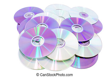 cds - Compact disks - Compact disks cd isolated on white