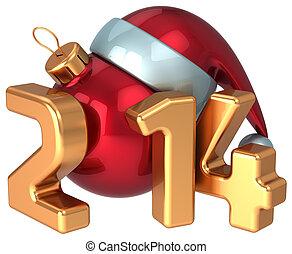 New Year 2014 Santa hat Christmas