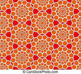 Abstract geometric seamless radial pattern