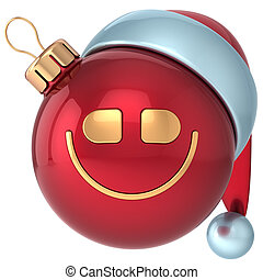 Christmas ball smile Happy New Year
