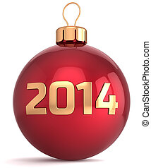 Christmas ball New 2014 Year bauble