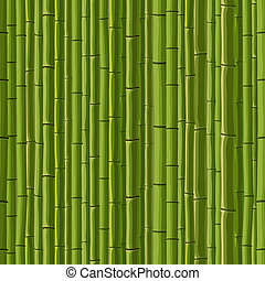 Seamless of green wall bamboo - Seamless cartoon background...
