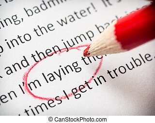 Proofreading essay errors