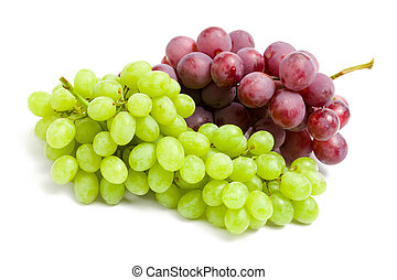 Close up view of two bunches of grape - Close up of two...