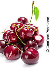Close up shot of heap of cherry - Close up of heap of...
