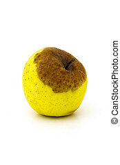 Apple - Inedible apple on white background