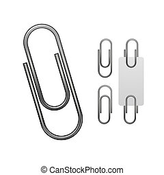 Paper clip isolated on white
