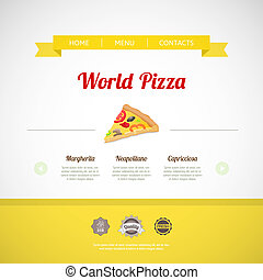 Pizza Menu Template, vector illustration - Pizza menu...