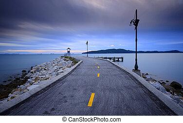 Raod on sea - Road on sea