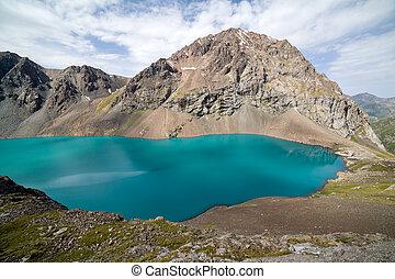Wonderful mounatin lake Ala-Kul, Kyrgyzstan - Wonderful...