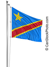 Flag of Democratic Republic Congo - 3D flag of Democratic...