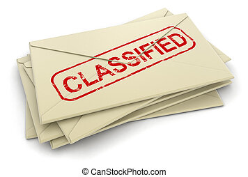 classified letters - classified letters. Image with clipping...