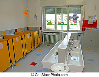 sinks for cleaning of infants within a nursery - small sinks...