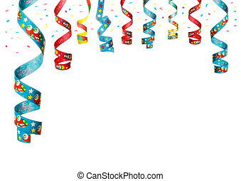party decoration - streamers and confetti as decoration for...