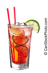 Red cold alcoholic cocktail - Red cold classic alcoholic...
