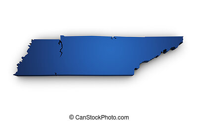 Map Of Tennessee 3d Shape - Shape 3d of Tennessee map...