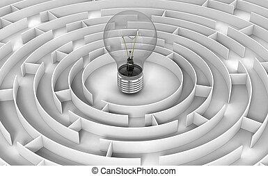 Maze to Light Bulb