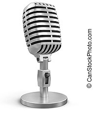 Microphone (clipping path included) - Microphone. Image with...