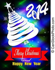Christmas Eve - Creative New Year card.Christmas Eve.