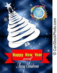Christmas Eve - Creative New Year card.Christmas Eve.