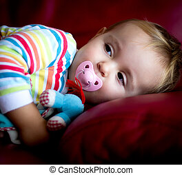baby pajamas - portrait of a baby in pajamas