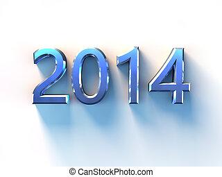 2014 Steel - 2014 written reflective illuminated obliquely...