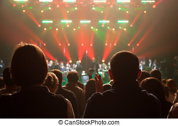 Audience applauded at the concert artists - The audience...
