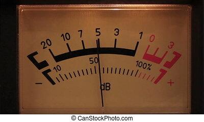 decibel meter with backlit - part of sound equipment
