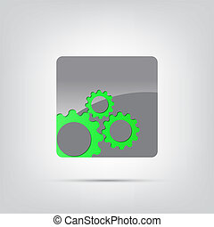 Abstract Icon - Abstract icon. Black abstract icon isolated...