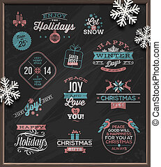 Christmas signs & emblems - Christmas vector illustration -...