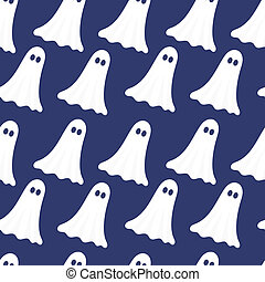 Ghosts seamless pattern - Ghosts seamless texture. Vector...