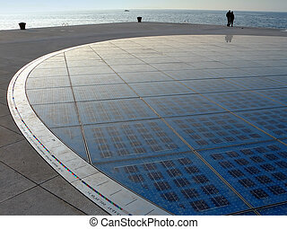 Solar circle in Zadar Croatia Greeting to the sun