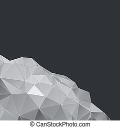 Polygonal design, Abstract geometrical background -...