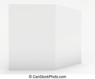 a large white sheet of paper on a white background